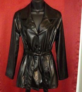 💜 Xhiliration black leather jacket